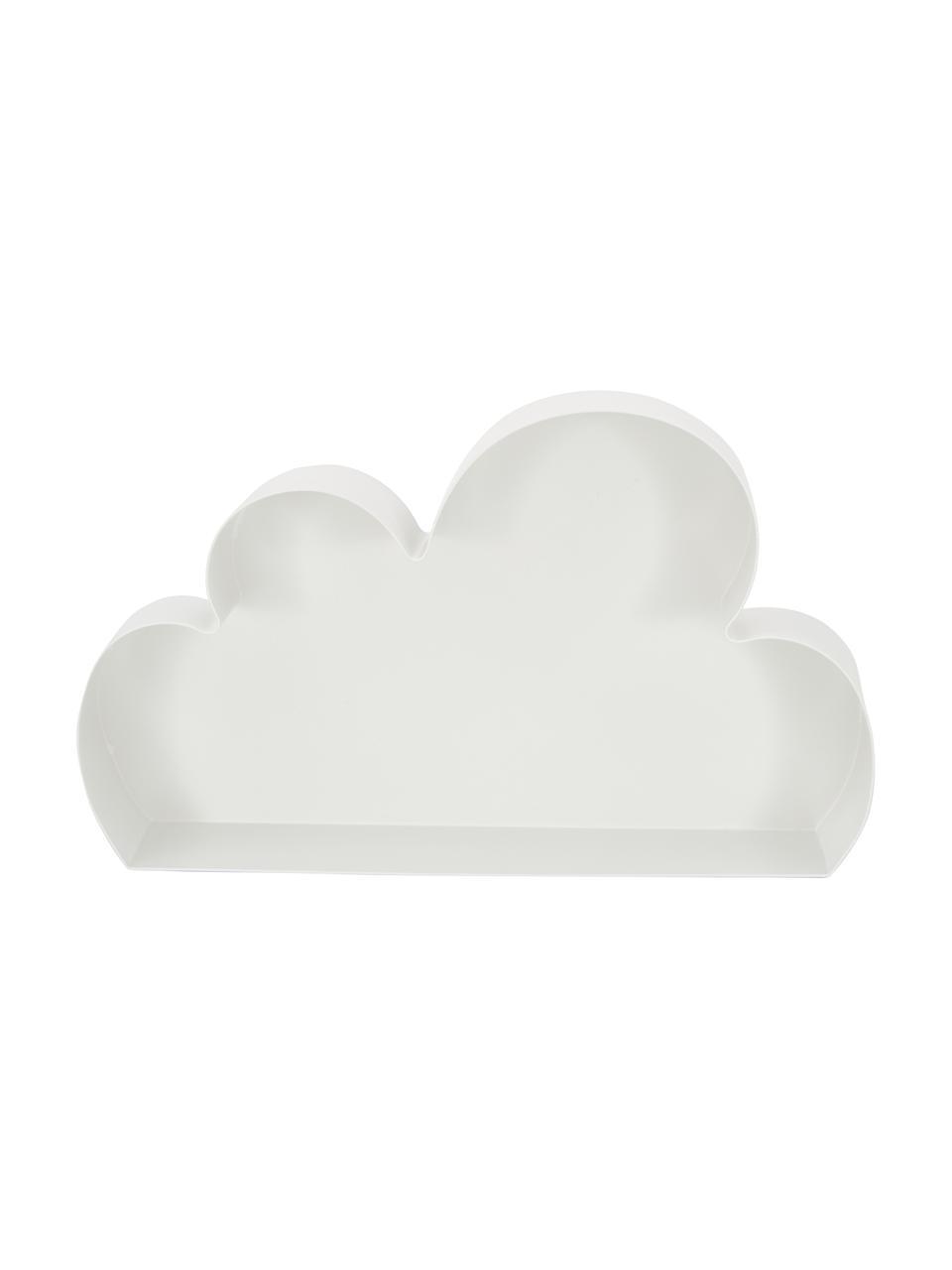 Wandregal Cloud, Metall, lackiert, Weiß, 40 x 23 cm