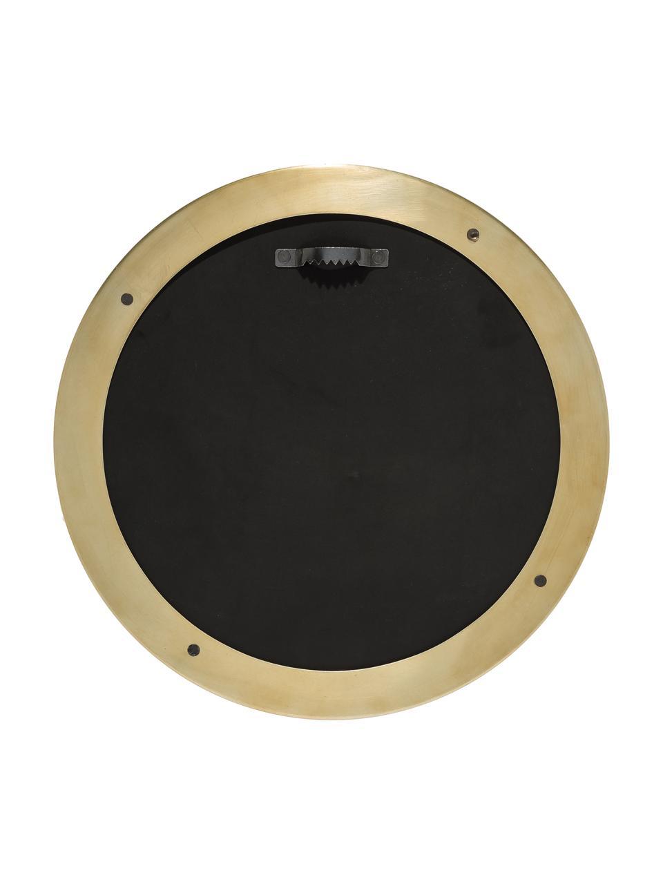 Specchio da parete rotondo con cornice dorata Metal, Cornice: metallo verniciato con se, Cornice: dorato Lastra di vetro, Ø 30 cm