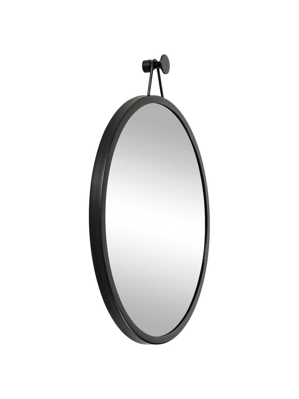 Okrągłe lustro ścienne z metalową ramą Lizzy, Czarny, Ø 60 x G 3 cm