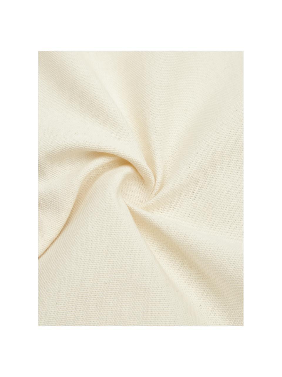 Kissenhülle Jolina mit dekorativer Verzierung, 100% Baumwolle, Beige, 30 x 50 cm