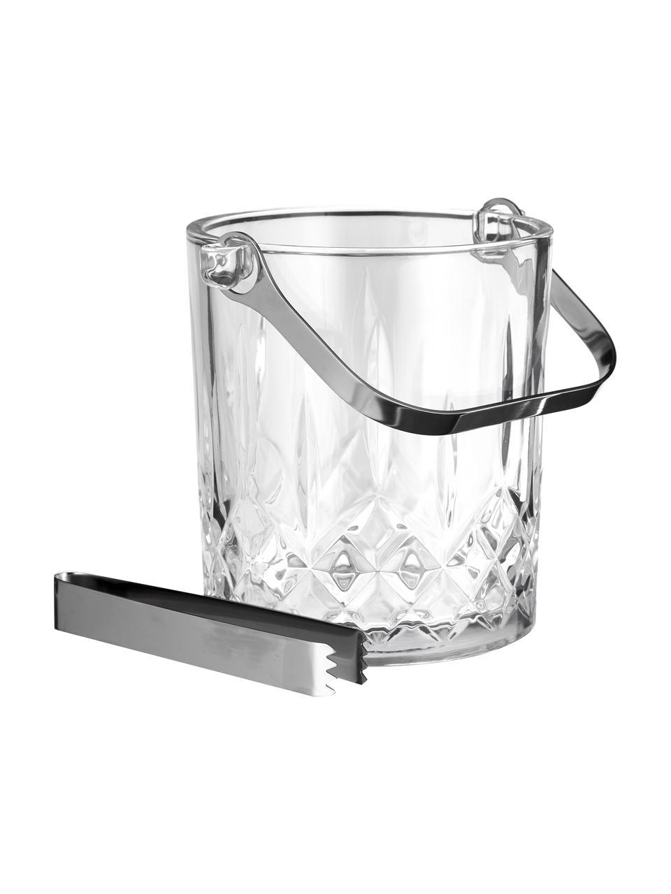 Małe wiaderko do lodu ze szczypcami Harvey, Szkło, Transparentny, Ø 13 x W 14 cm