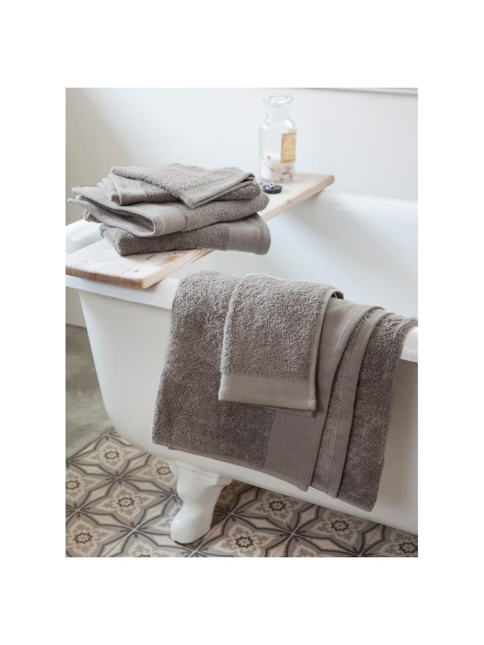 Waschlappen Soft Cotton, 2 Stück, Taupe, 16 x 21 cm