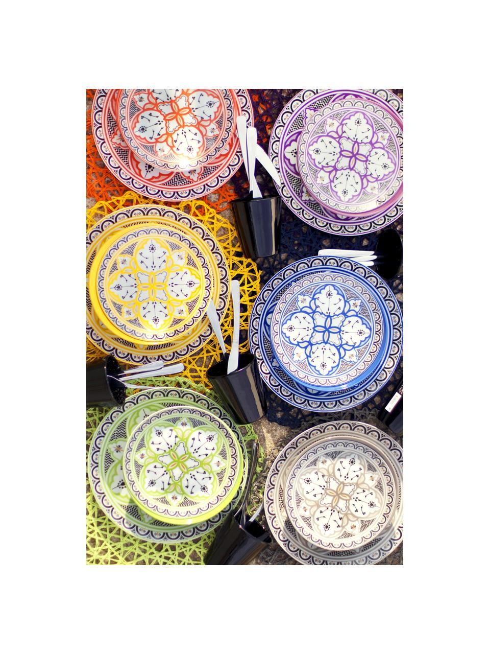 Buntes gemustertes Geschirr-Set Marocco, 6 Personen (18-tlg.), Mehrfarbig, Sondergrößen