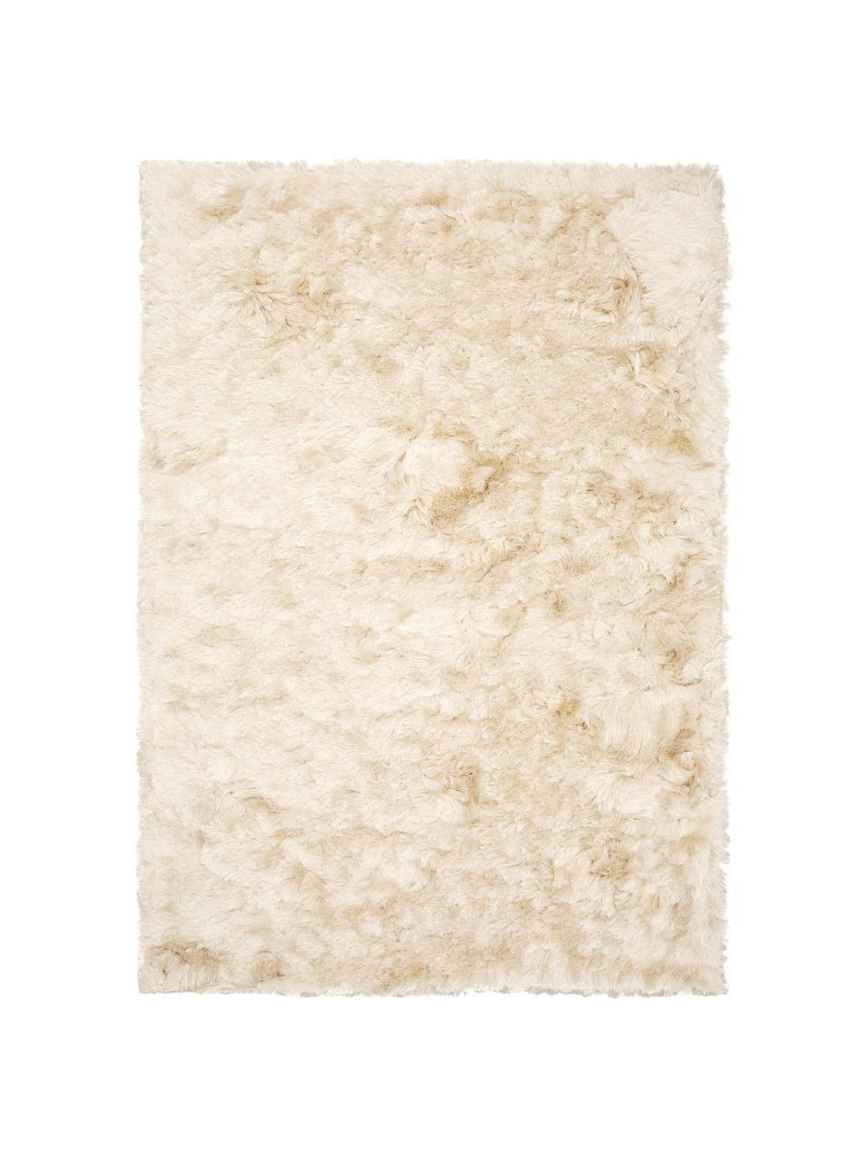 Tapis shaggy longs poils ivoire Jimmy, Blanc ivoire
