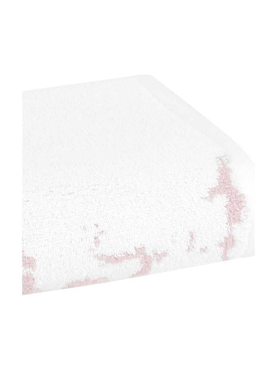 Handtuch-Set Malin mit Marmor-Print, 3-tlg., Rosa, Cremeweiß, Sondergrößen