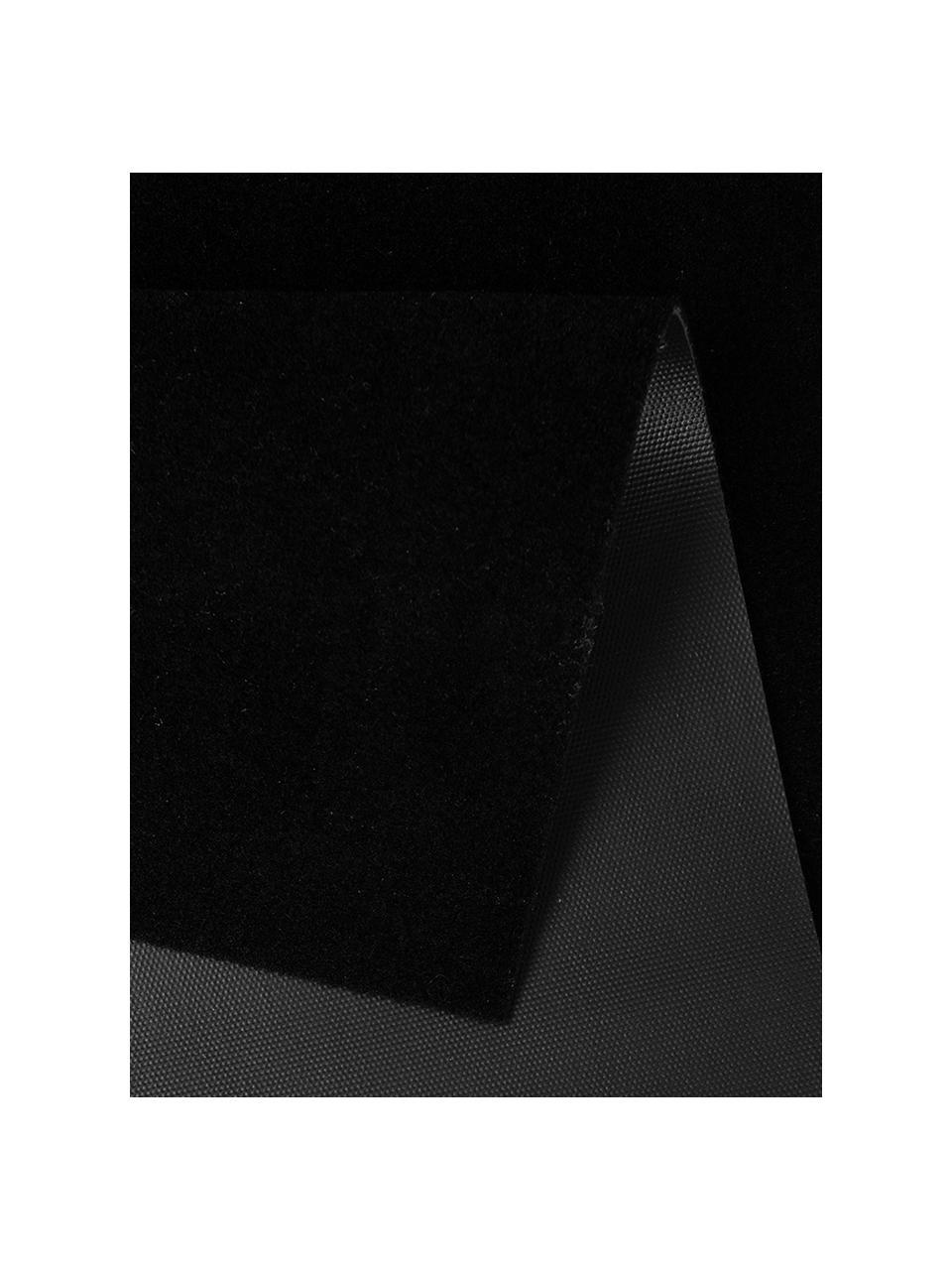 Passatoia da cucina lavabile Cooking with Love, Nero, bianco, Larg. 50 x Lung. 150 cm