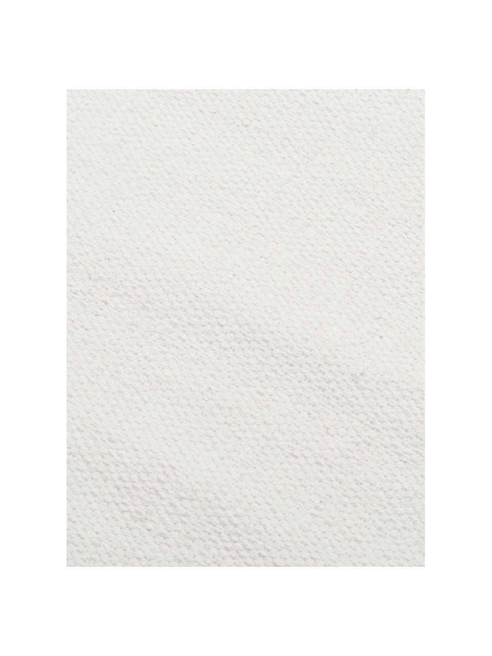Dünner Baumwollteppich Agneta, handgewebt, 100% Baumwolle, Cremeweiss, B 200 x L 300 cm (Grösse L)