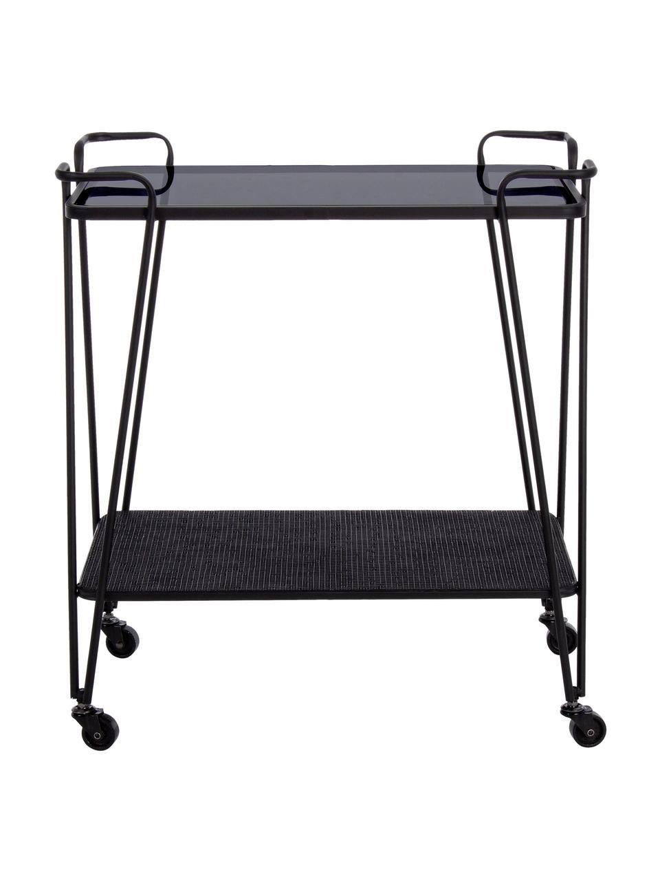 Wózek barowy modern Zaira, Czarny, S 60 x W 68 cm