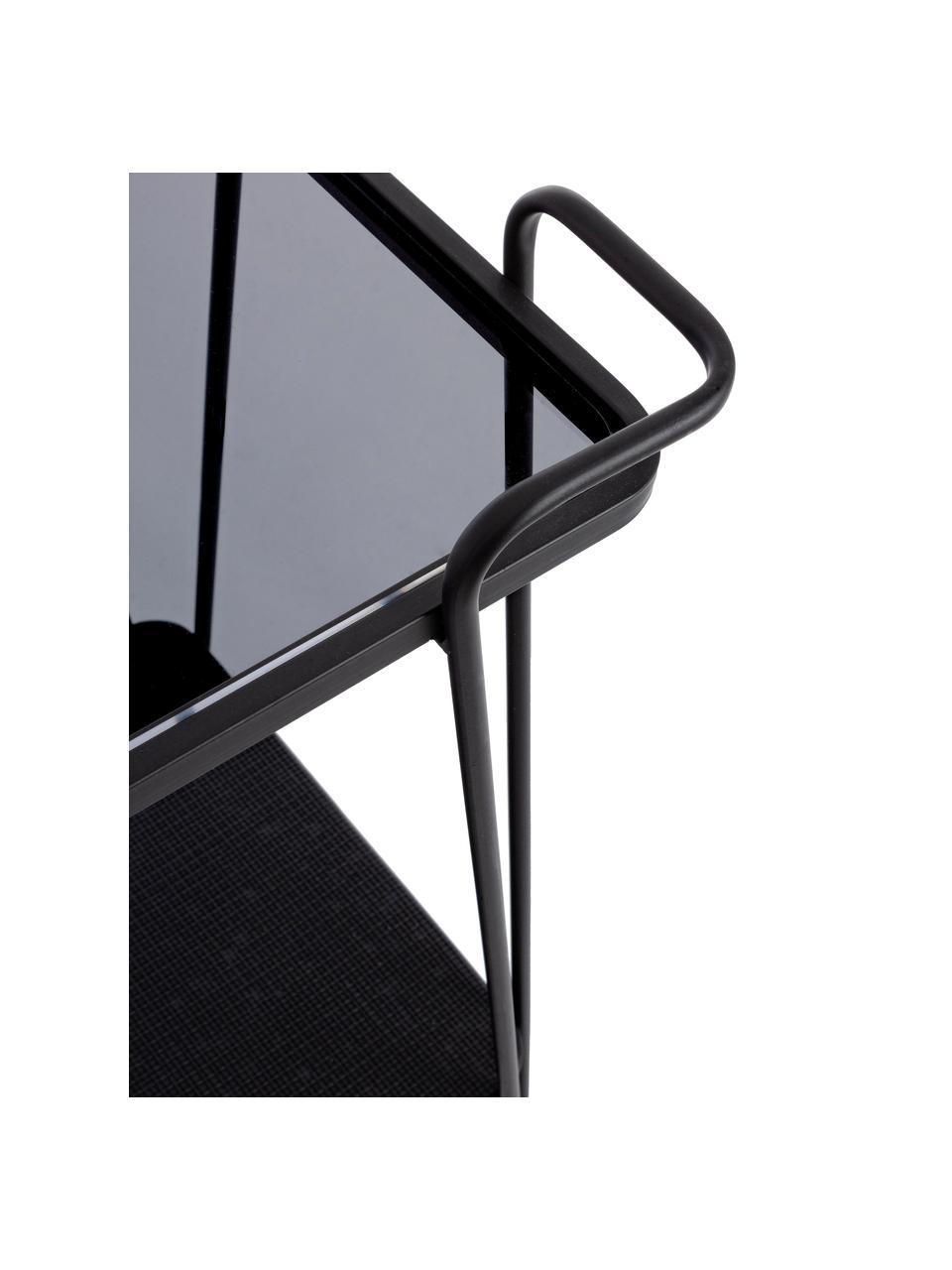 Moderne barcart Zaira, Zwart, 60 x 68 cm