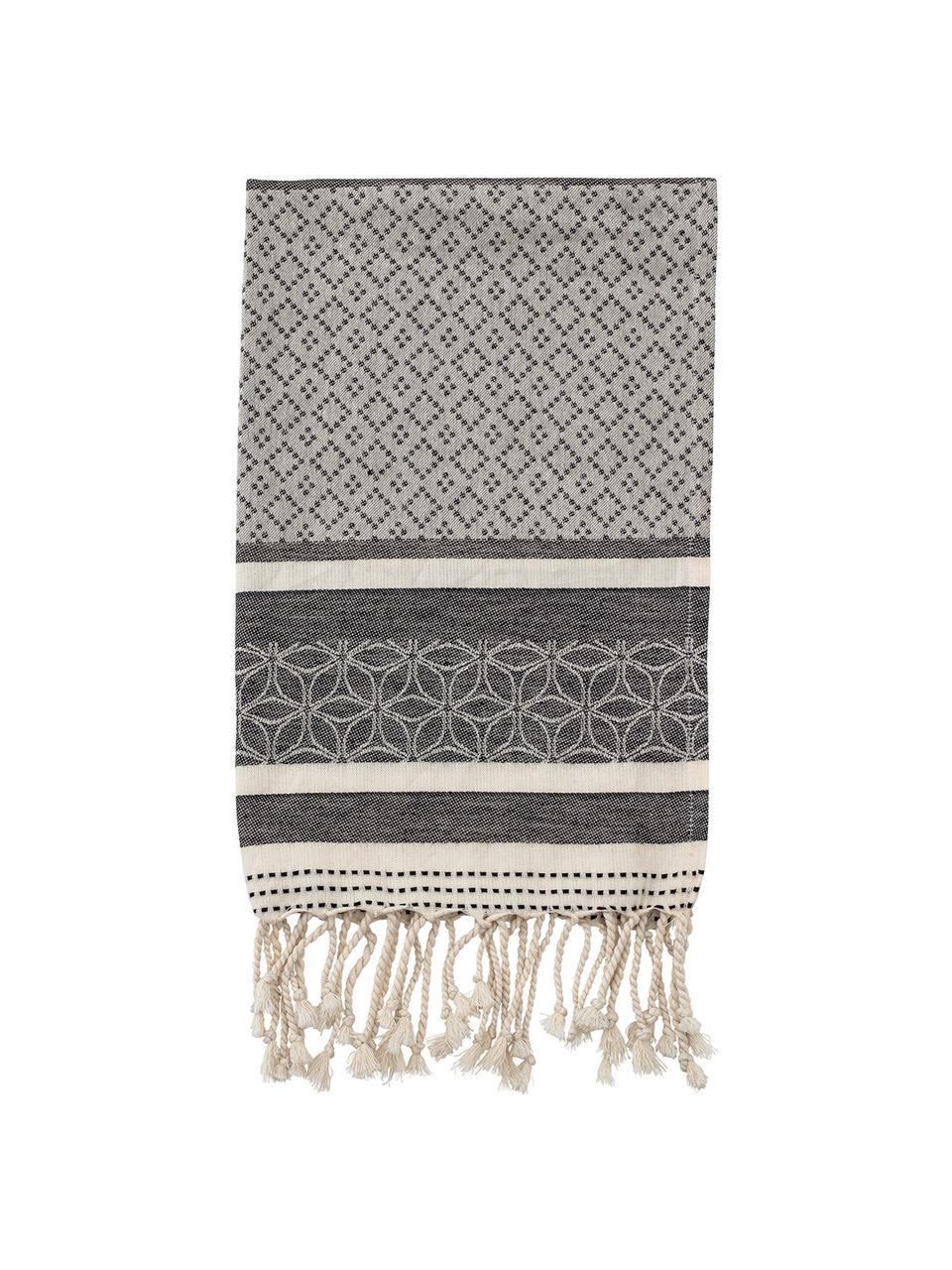 Baumwoll-Geschirrtücher Nature, 2 Stück, Baumwolle, Beige, Grau, 45 x 70 cm