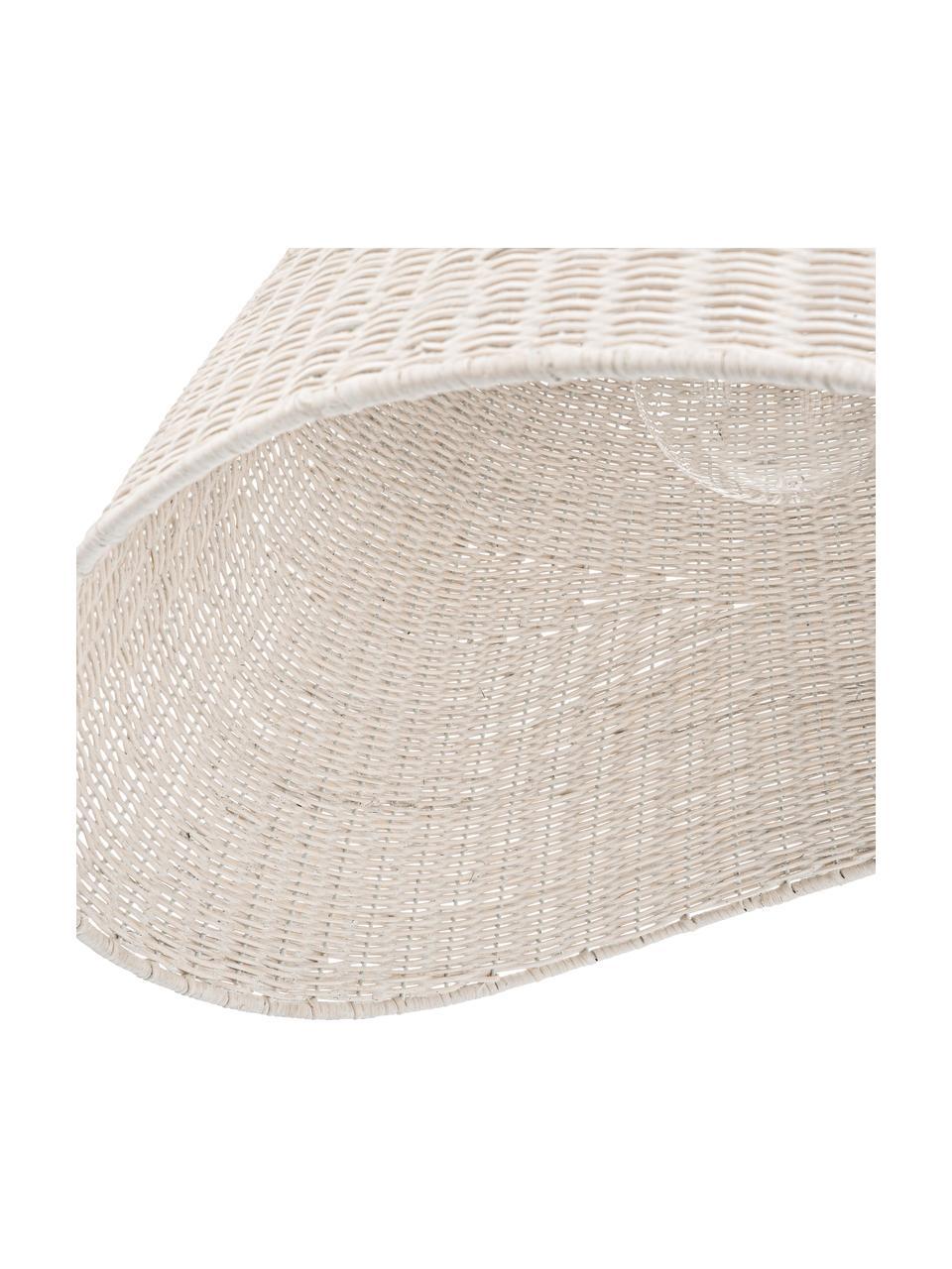 Grande suspension scandinave en bambou Arvid, Blanc