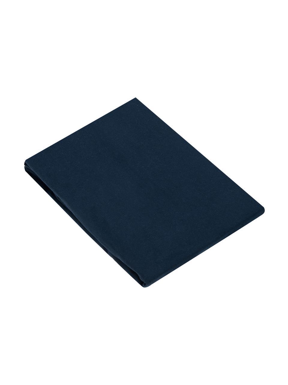 Flanell-Spannbettlaken Biba in Marineblau, Webart: Flanell, Marineblau, 180 x 200 cm