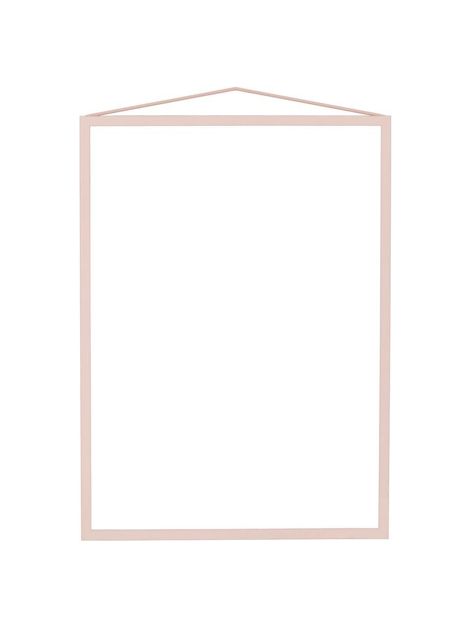 Portafoto da parete in acciaio rosa Colour Frame, Cornice: acciaio verniciato a polv, Rosa, 30 x 42 cm