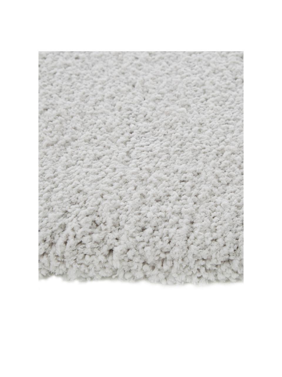 Flauschiger runder Hochflor-Teppich Leighton in Hellgrau, Flor: Mikrofaser (100% Polyeste, Hellgrau, Ø 200 cm (Größe L)