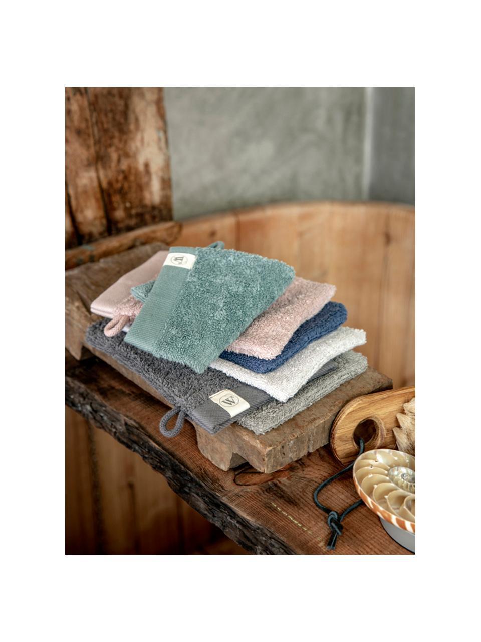 Waschlappen Blend aus recyceltem Baumwoll-Mix, 2 Stück, Puderrosa, 16 x 21 cm