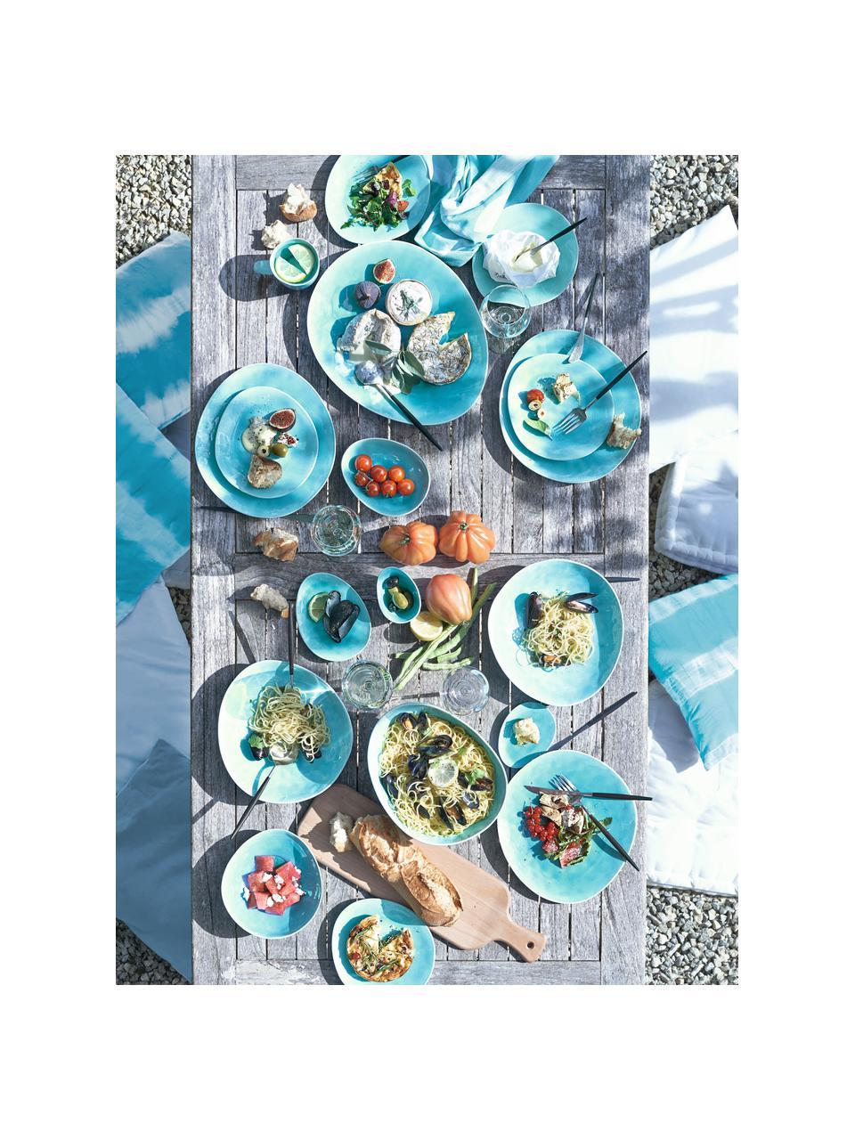 Filiżanki do espresso z porcelany Plage, 2 szt., Porcelana z celowo popękaną powierzchnią (craquelé), Turkusowy, Ø 6 x W 5 cm