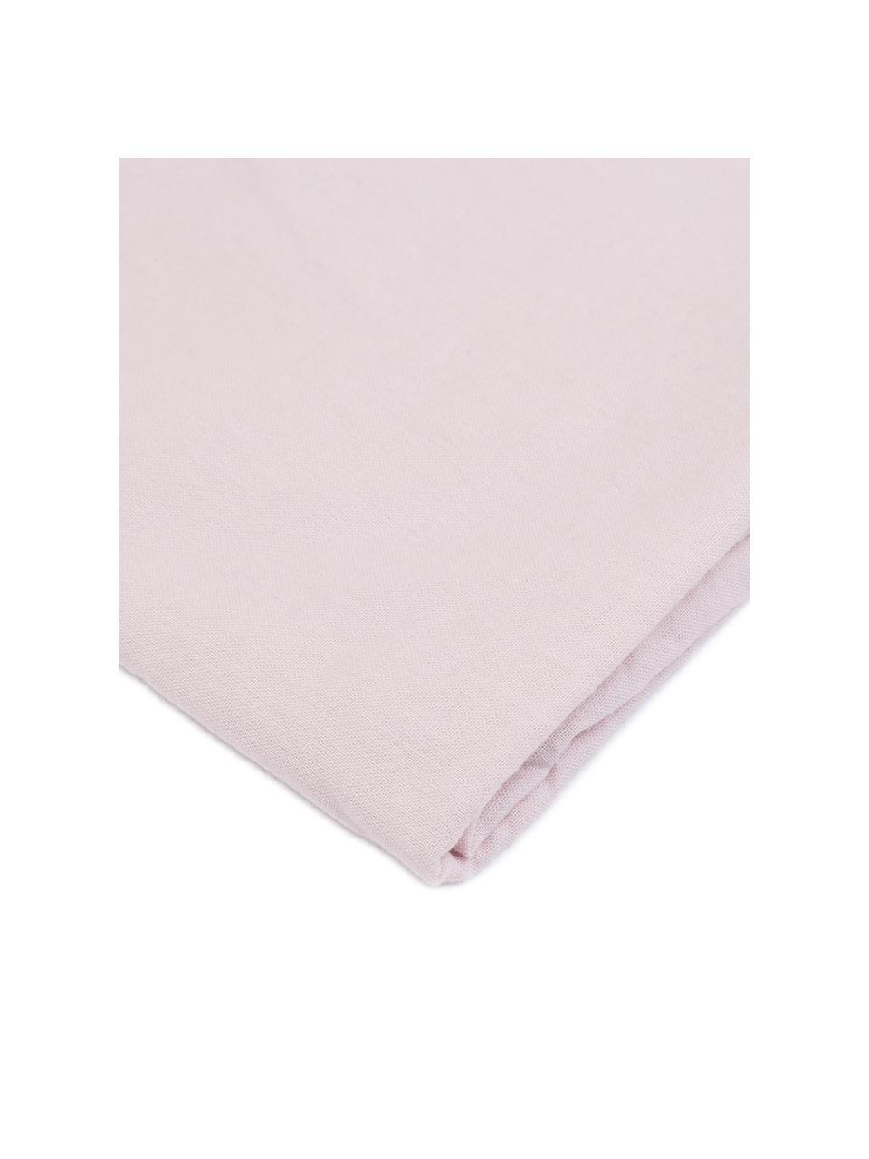 Parure copripiumino in cotone effetto stone washed Velle, Tessuto: cotone ranforce, Fronte e retro: rosa chiaro, 155 x 200 cm + 1 federa 50 x 80 cm