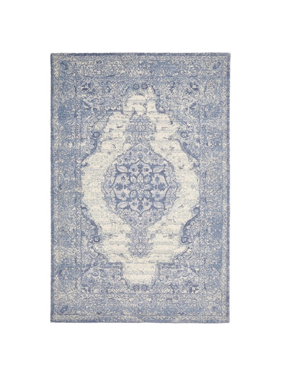 Teppich Elegant im Vintage Style, Flor: 100% Nylon, Blau, B 120 x L 180 cm (Größe S)