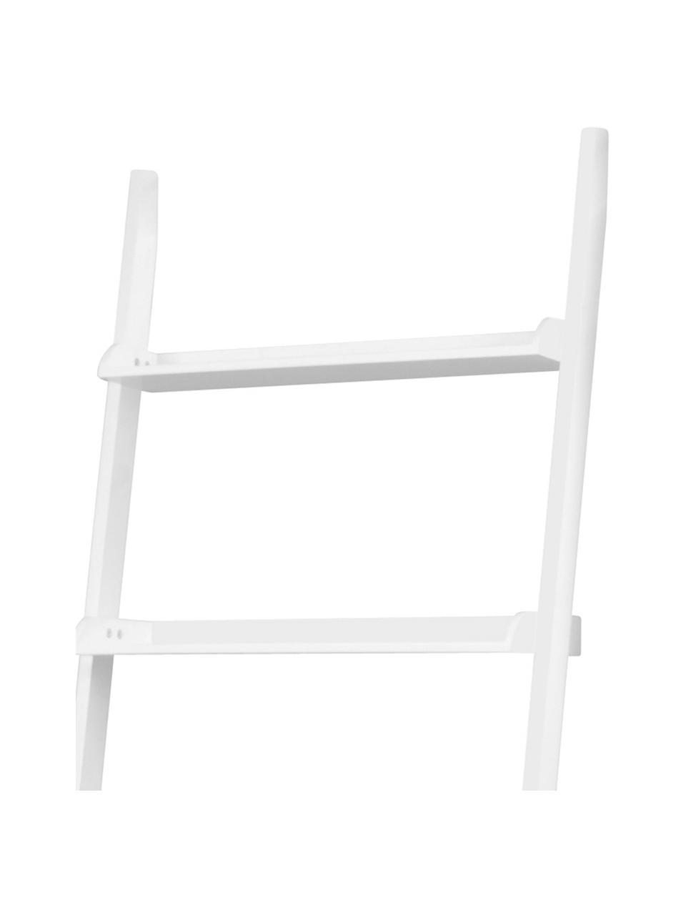 Leiterregal Wally in Weiß, Mitteldichte Holzfaserplatte (MDF), lackiert, Weiß, 67 x 189 cm