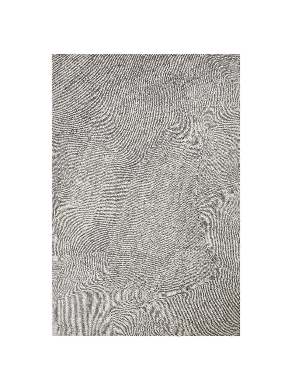 Ręcznie tkany dywan Canyon, 51% poliester, 49% wełna, Szary, S 200 x D 300 cm (Rozmiar L)