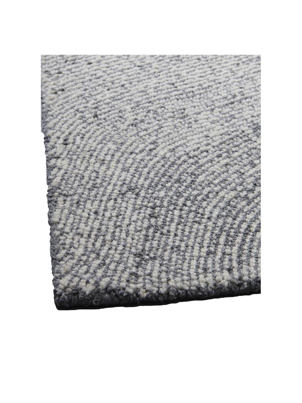 Tappeto tessuto a mano con motivo ondulato Canyon, 51% poliestere, 49% lana, Grigio, Larg. 200 x Lung. 300 cm (taglia L)