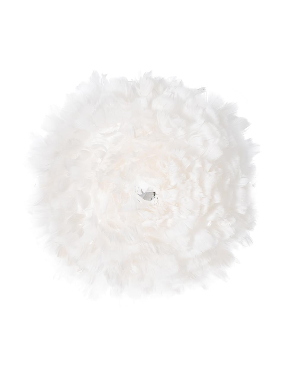 Wand- und Deckenleuchte Eos Up aus Federn, Lampenschirm: Gänsefedern, Weiß, Ø 40 x T 15 cm