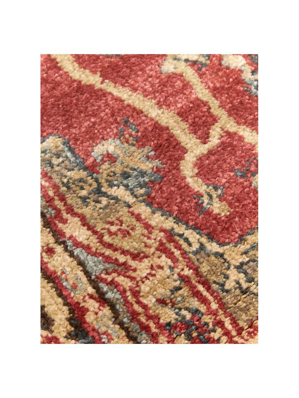 Passatoia orientale Alberto, 100% polipropilene, Rosso, multicolore, Larg. 62 x Lung. 240 cm