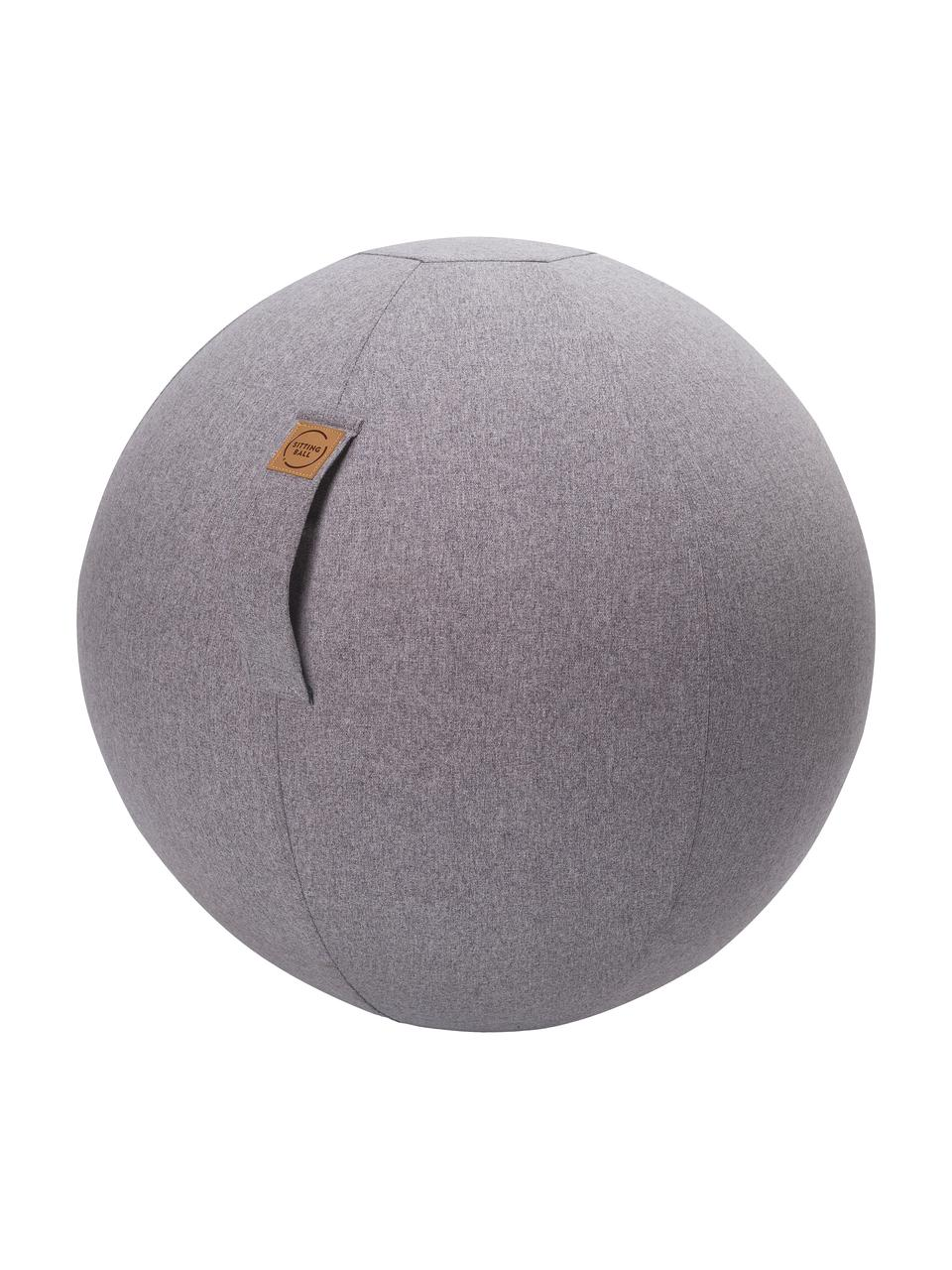 Piłka do siedzenia z rączką Felt, Tapicerka: poliester (imitacja filcu, Jasny szary, Ø 65 cm