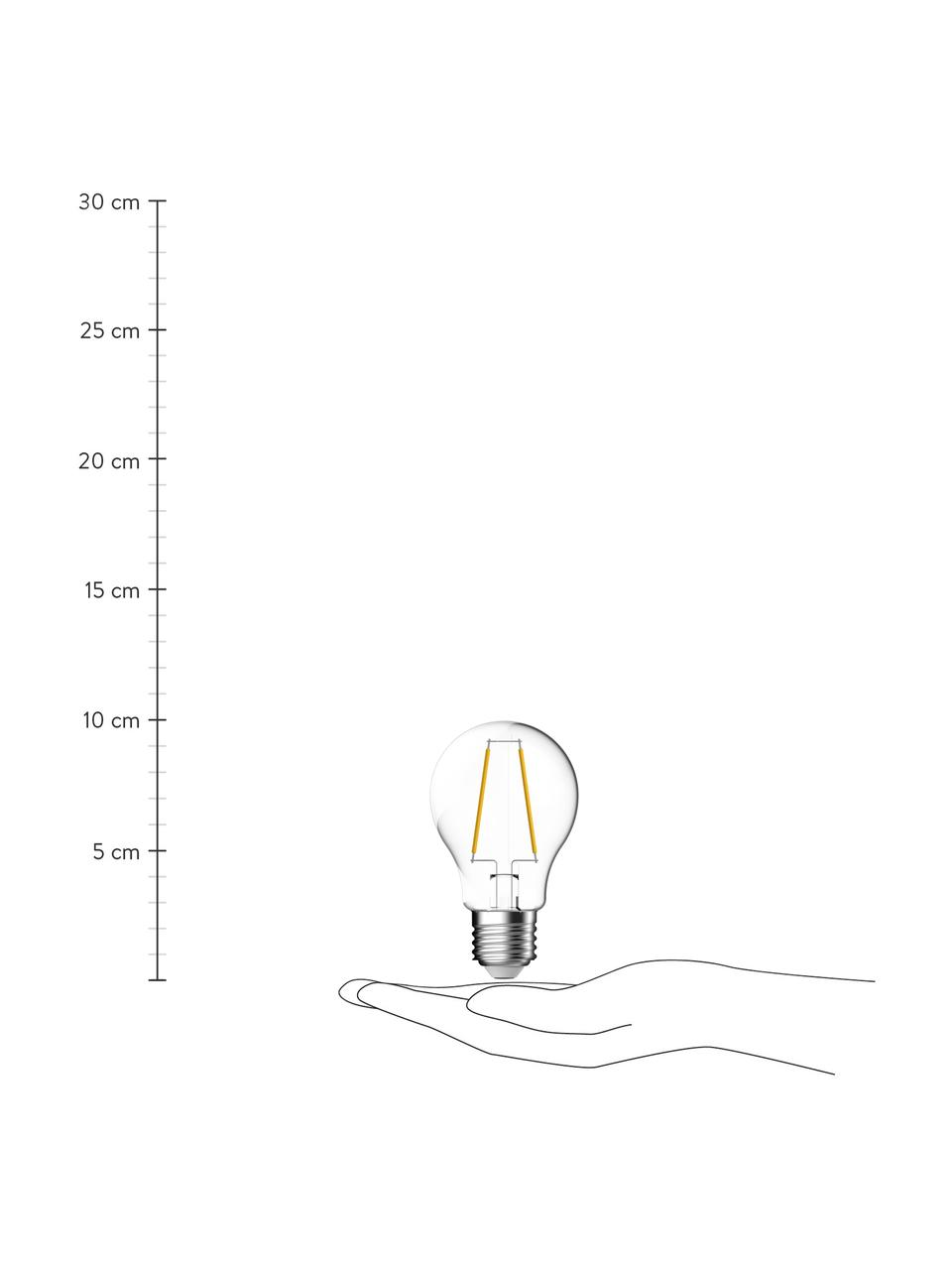 E27 peertje, 7 watt, warmwit, 1 stuk, Peertje: glas, Fitting: aluminium, Transparant, Ø 6 x H 10 cm