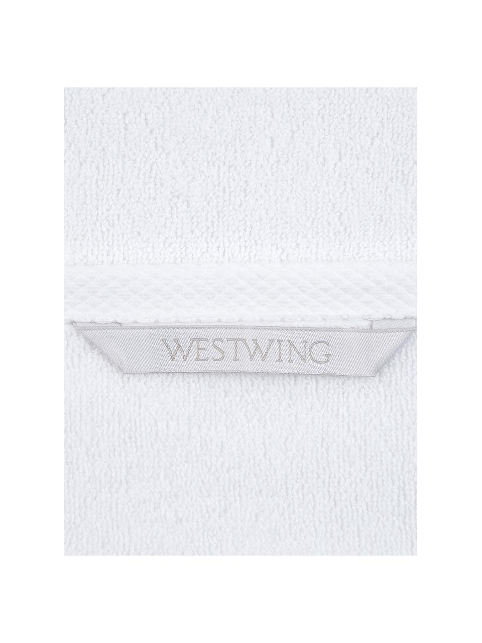Einfarbiges Handtuch-Set Comfort, 3-tlg., Weiß, Sondergrößen