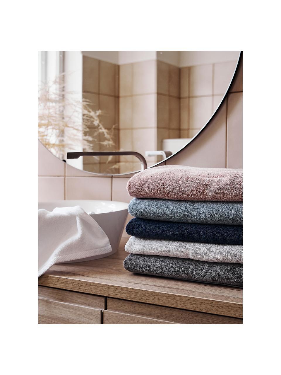 Set 3 asciugamani in tinta unita Comfort, Bianco, Set in varie misure