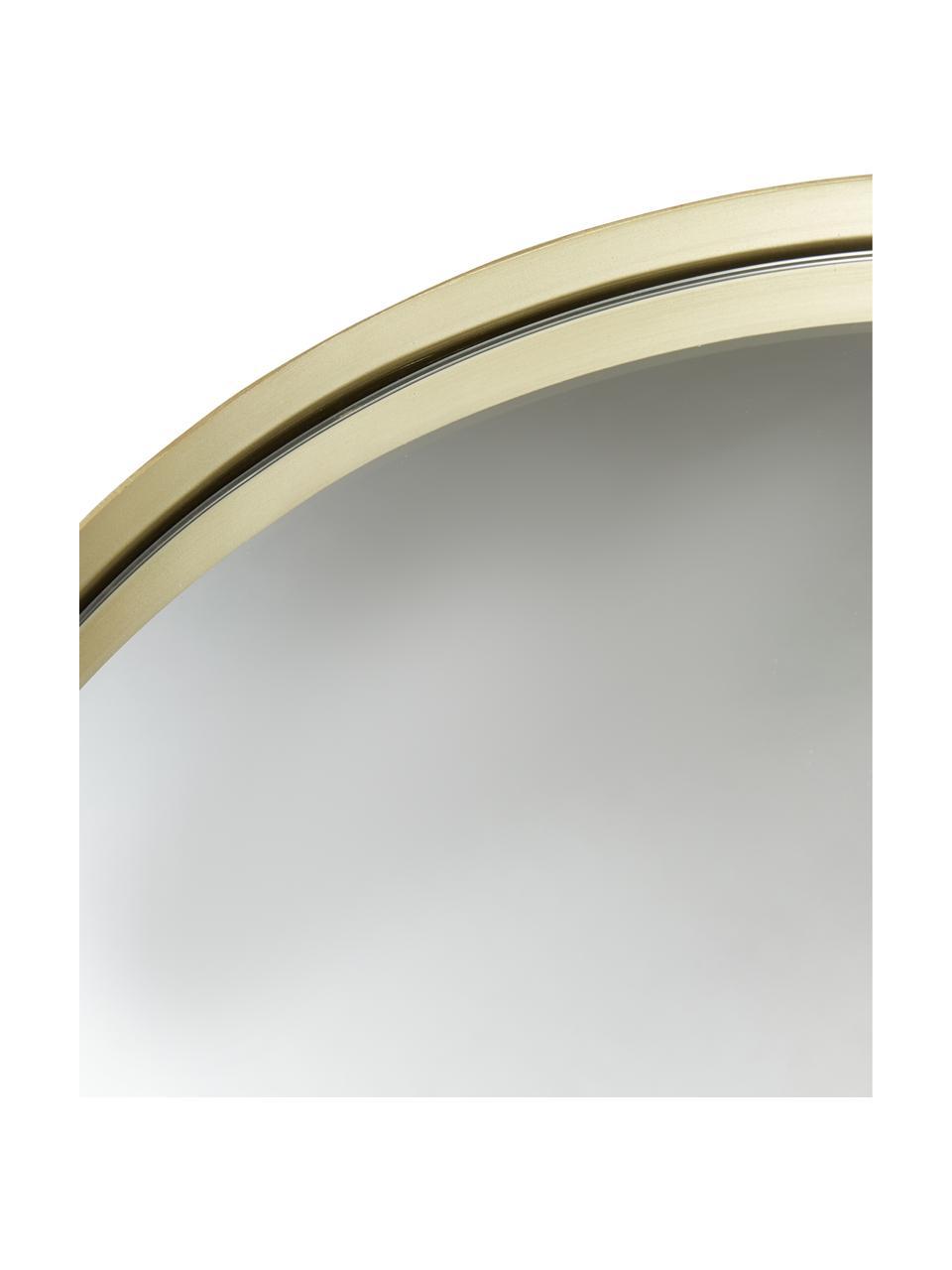 Ronde wandspiegel Ivy met goudkleurige lijst, Lijst: vermessingd metaal, Messingkleurig, Ø 40 cm