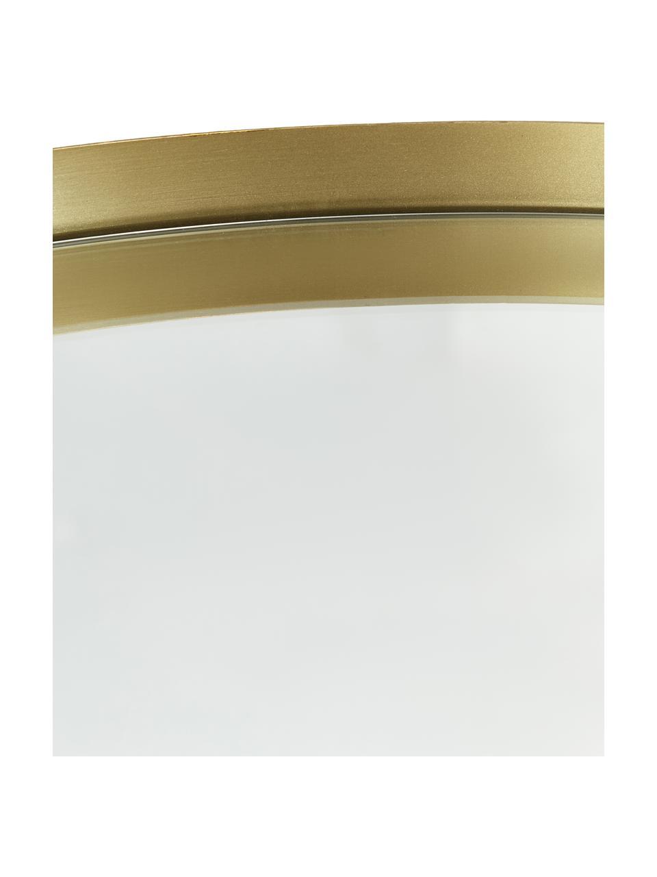 Ronde wandspiegel Ivy met een messingkleurig metalen lijst, Lijst: vermessingd metaal, Messingkleurig, Ø 72 cm
