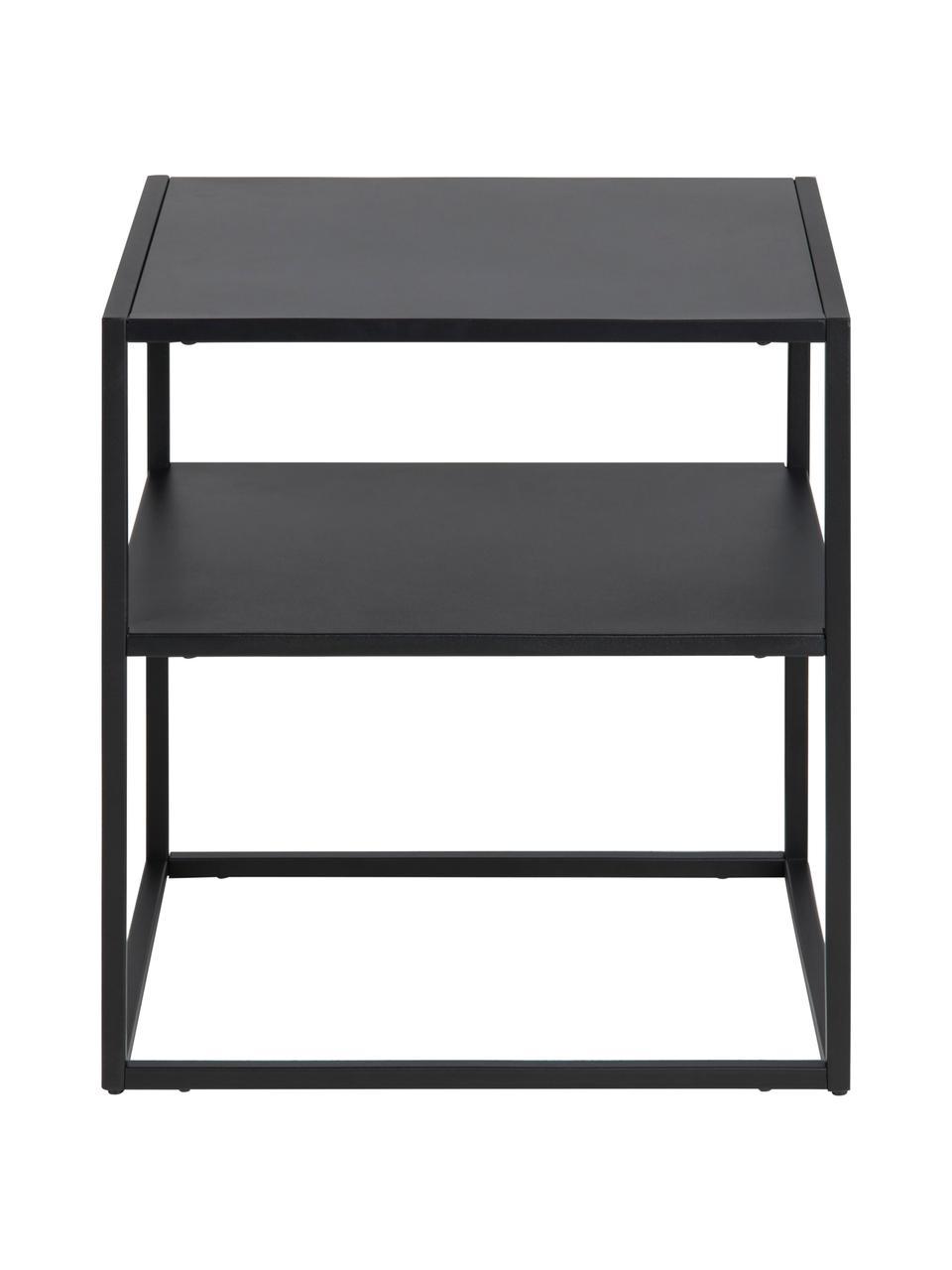 Table d'appoint en métal, noire Newton, Noir