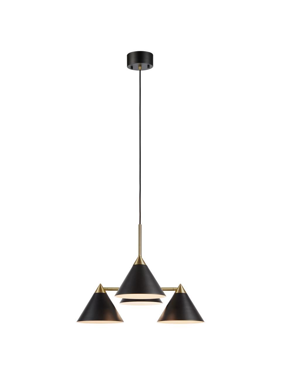 Lampa wisząca Klint, Czarny, odcienie złotego, Ø 57 x W 46 cm