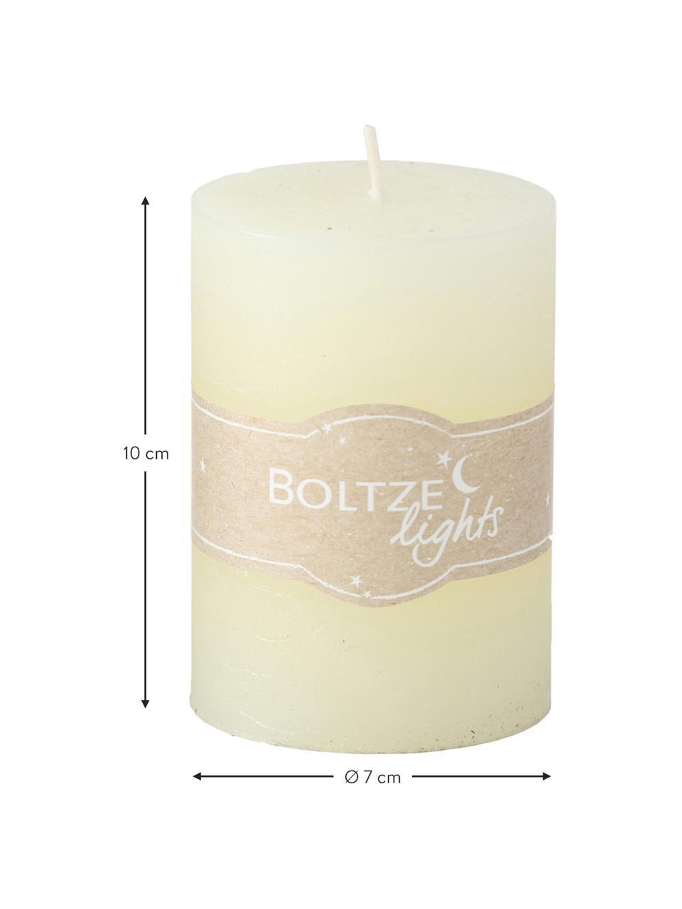 Set di 3 candele Birara, Blu, marrone, crema, Ø 7 x Alt. 10 cm