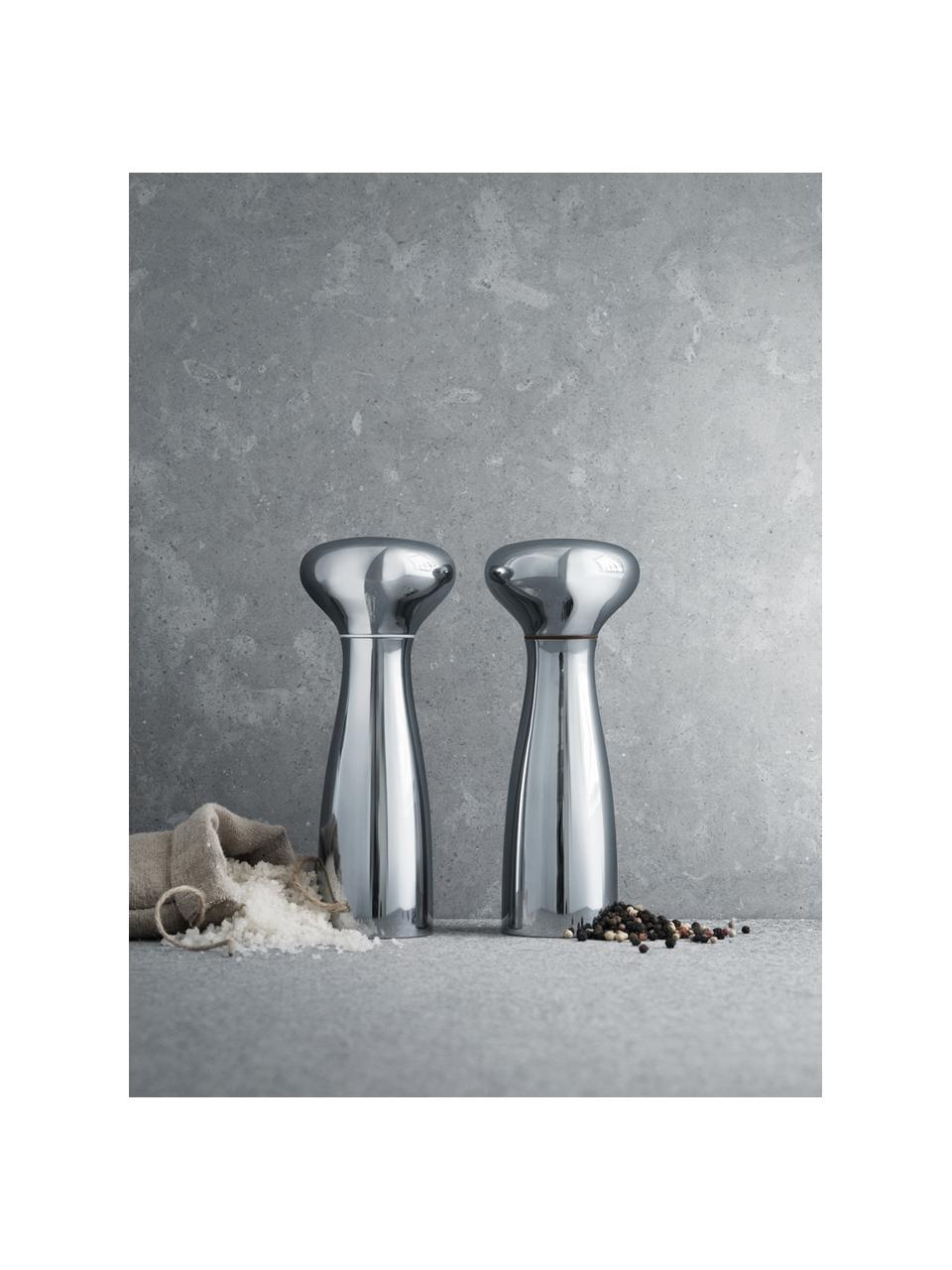Set macina spezie di design Alfredo 2 pz, Accaio inossidabile, lucido, Ø 8 x Alt. 20 cm