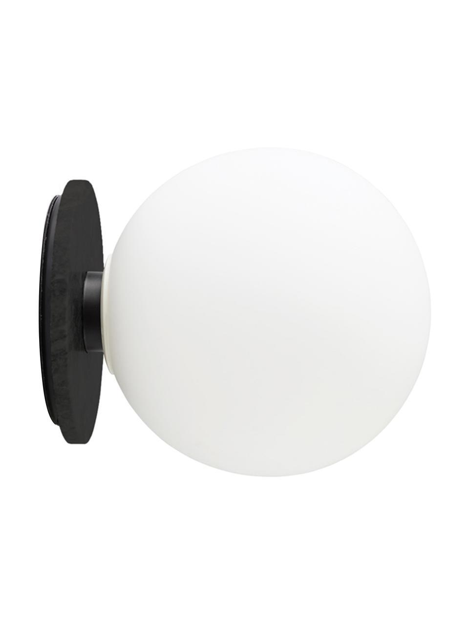 LED-Wand- und Deckenleuchte TR Bulb, Lampenschirm: Opalglas, Weiß, Schwarz, Ø 20 x T 22 cm