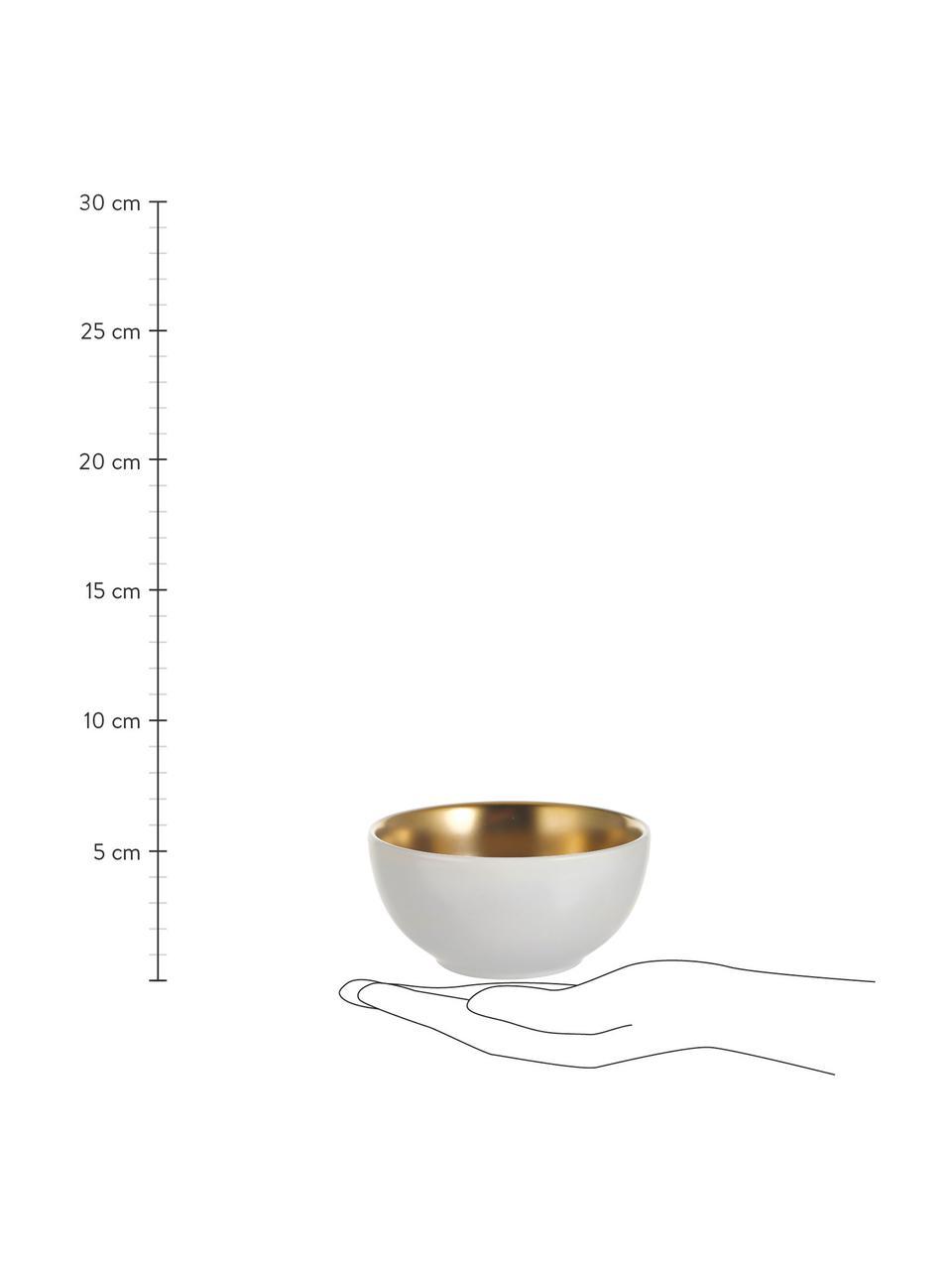 Serveerset Glitz in wit/goudkleurig, 4-delig, Keramiek, Wit, goudkleurig, Ø 11 x H 6 cm