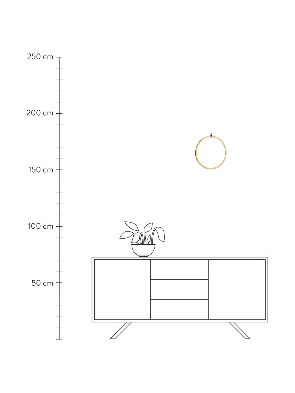 Wandobjekt Turi aus Metall, Metall, beschichtet, Baumwolle, Messingfarben, Schwarz, Ø 28 cm