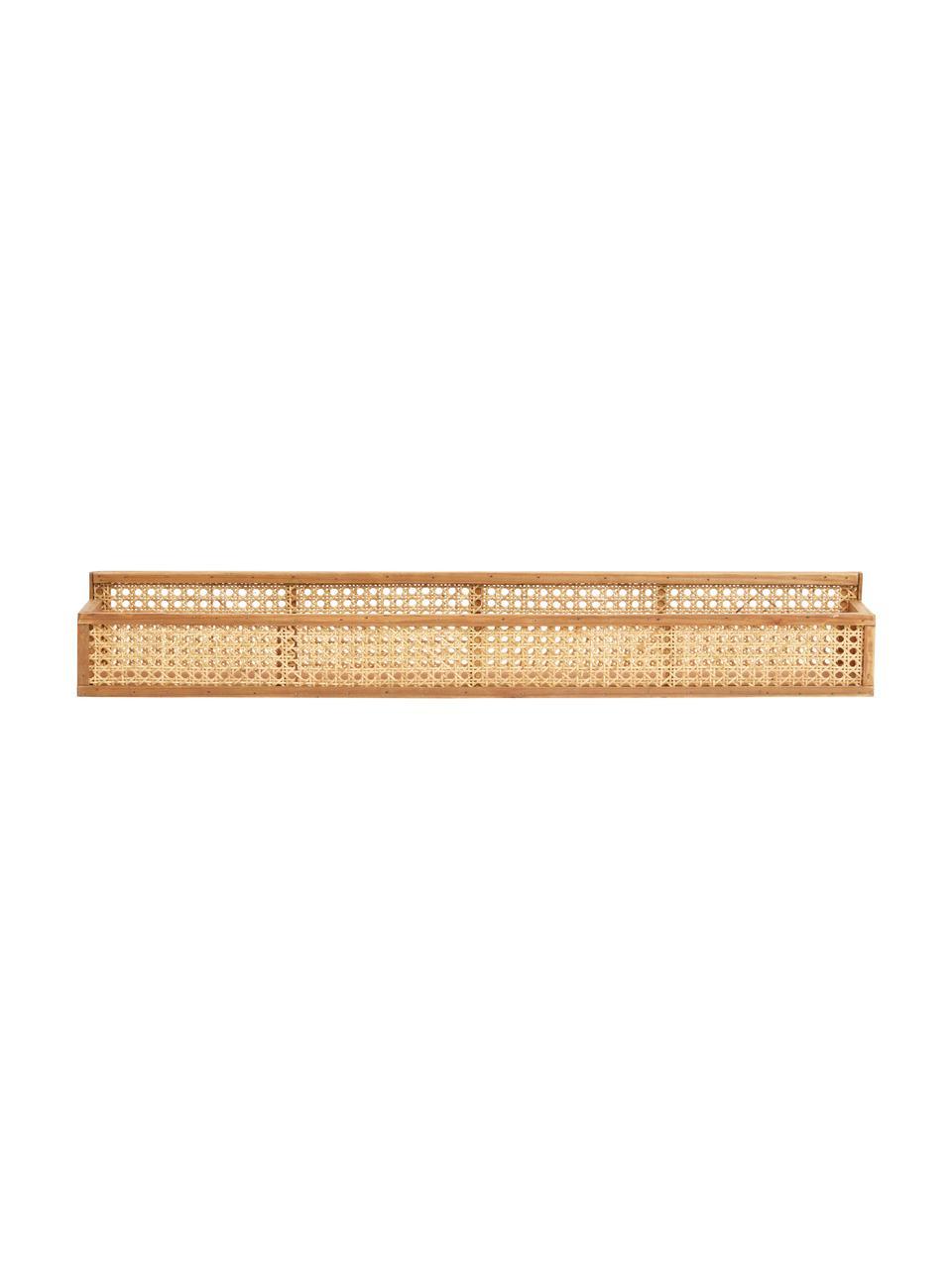 Półka ścienna z plecionka wiedeńską Shelfi, Rattan, Brązowy, S 46 x W 13 cm