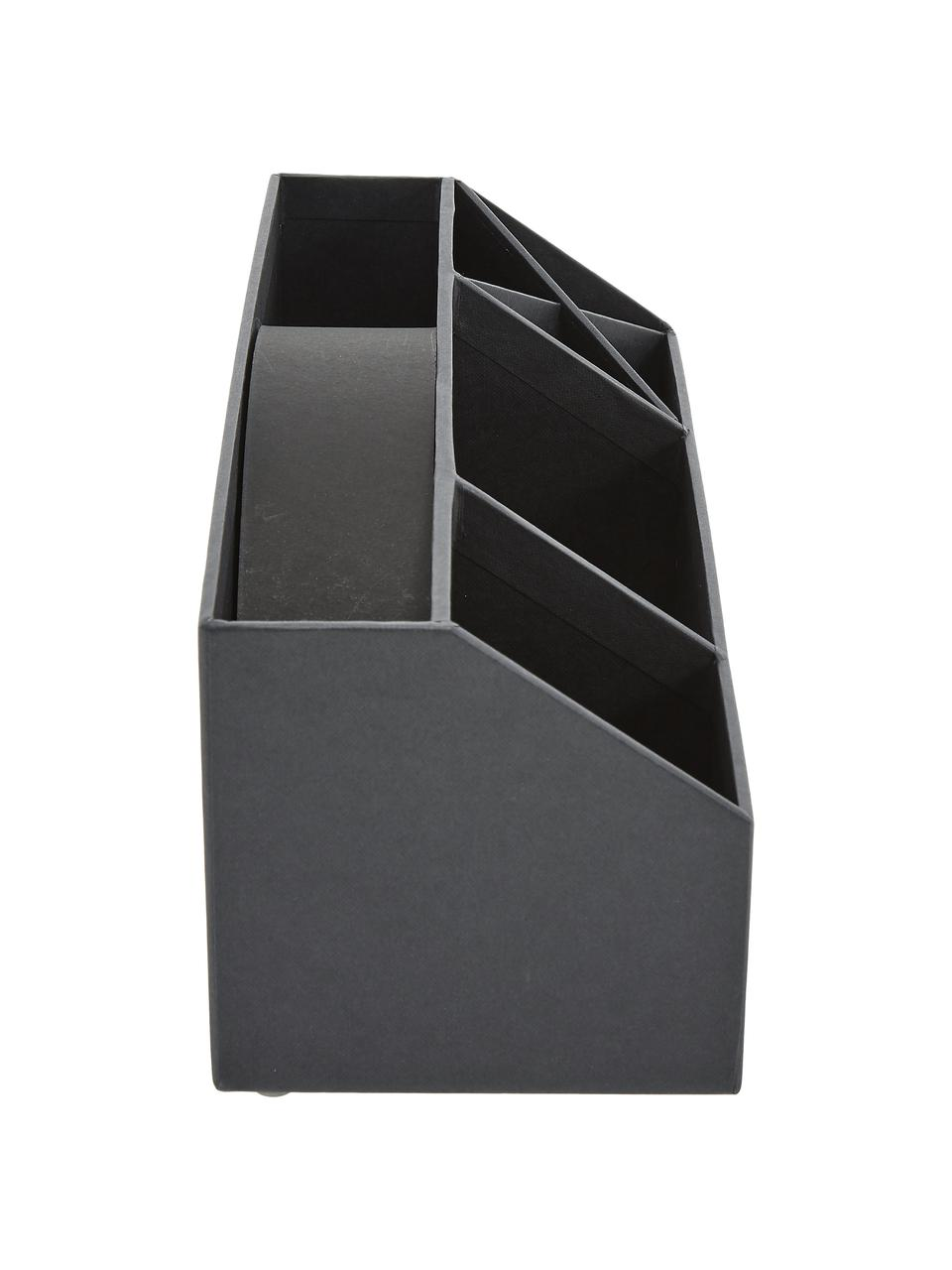 Organizer da ufficio Elisa, Solido, cartone laminato, Grigio scuro, Larg. 33 x Alt. 13 cm