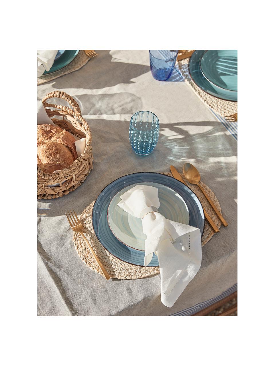 Mała ręcznie wykonana podkładka na stół z liści kukurydzy Corn, 2szt., Liście kukurydzy, plecione, Jasny beżowy, S 26 x D 38 cm