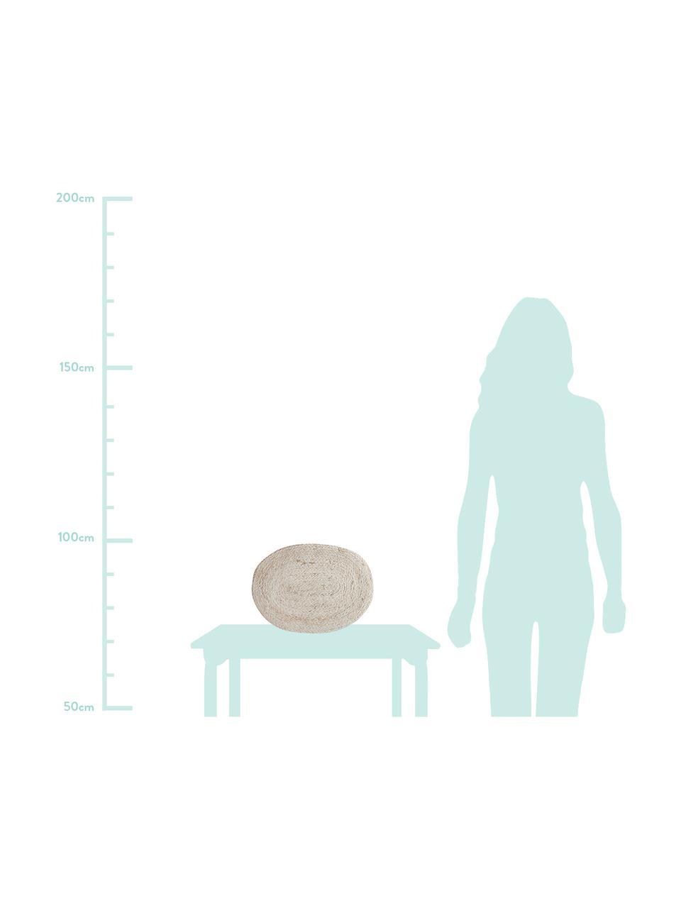 Kleine handgemachte Tischsets Connie aus Maisblättern, 2 Stück, Maisblätter, geflochten, Hellbeige, 26 x 38 cm