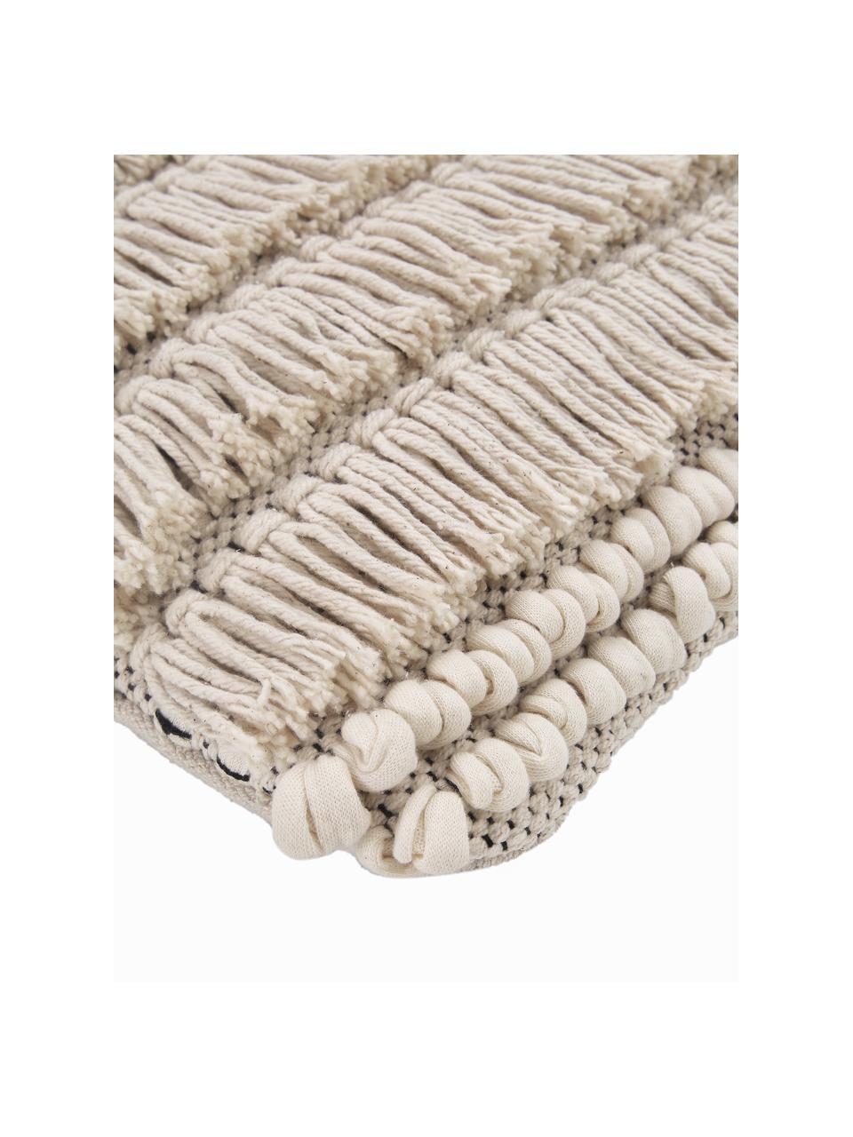 Poduszka z wypełnieniem Tallara, Tapicerka: 100% bawełna z recyklingu, Jasny beżowy, S 45 x D 45 cm