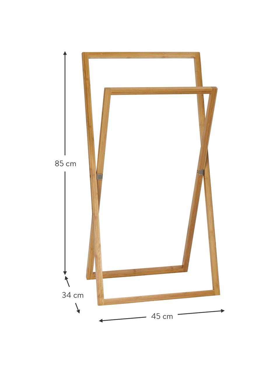 Handtuchhalter Belvedere, Bambus, Braun, 45 x 85 cm