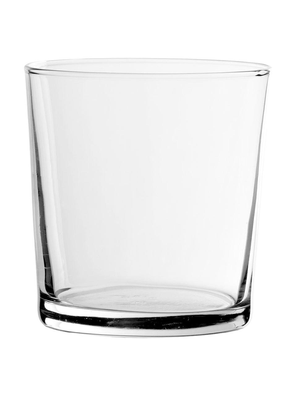 Klassische Wassergläser Simple, 6 Stück, Glas, Transparent, Ø 9 x H 9 cm
