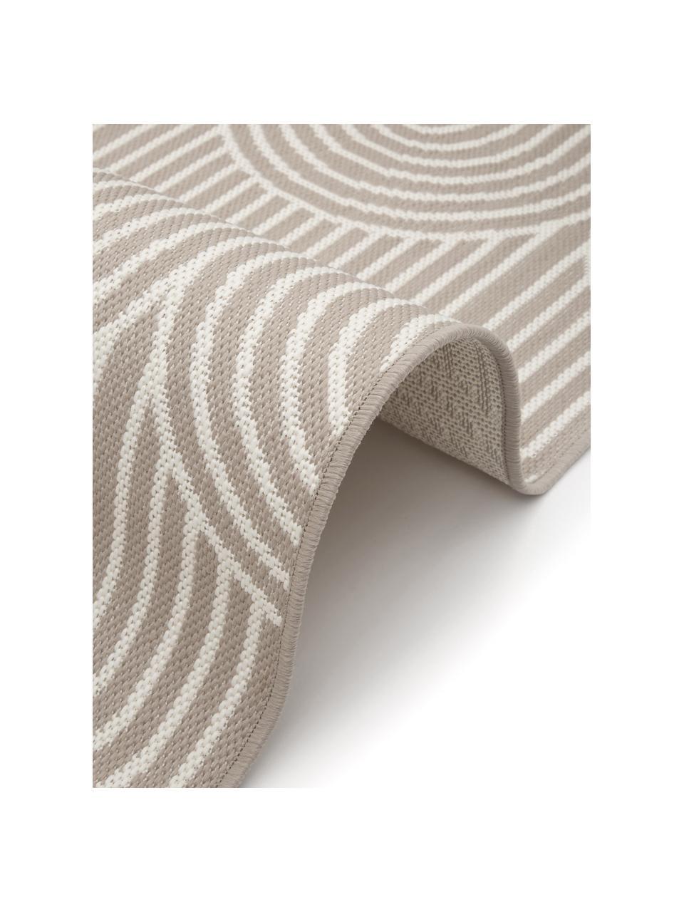 In- & Outdoorläufer Arches in Beige/Cremeweiß, 86% Polypropylen, 14% Polyester, Beige, Weiß, 80 x 250 cm