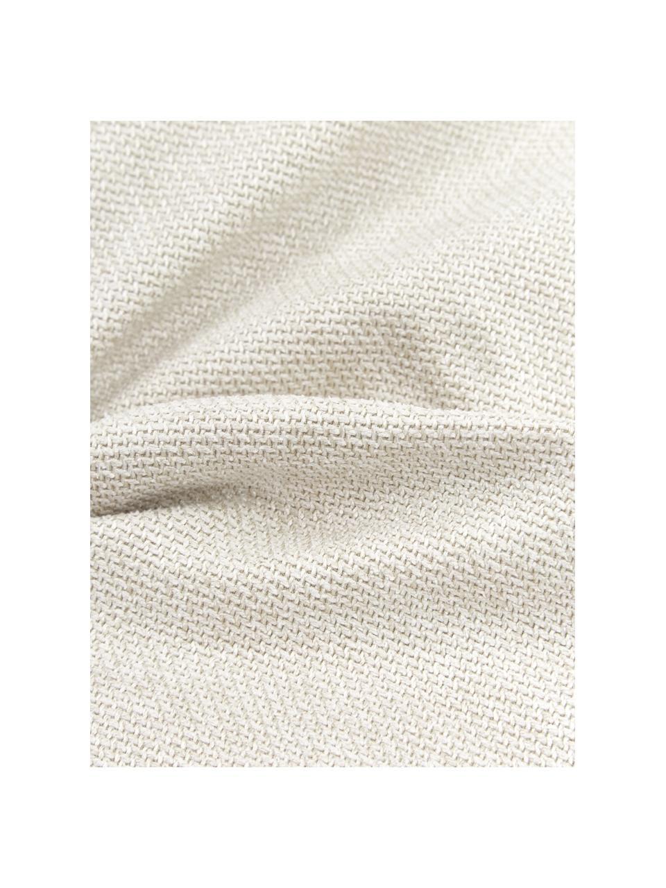 Sofa-Kissen Lennon in Beige, Bezug: 100% Polyester, Webstoff Beige, 60 x 60 cm