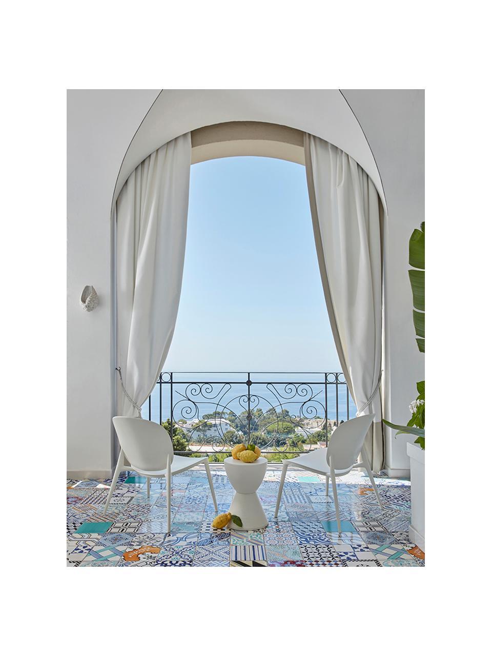 Fotel wypoczynkowy z tworzywa sztucznego Be Bop, Modyfikowany polipropylen, Biały, S 69 x G 62 cm